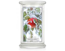 Kringle Candle - Winter Apple - duży, klasyczny słoik (623g) z 2 knotami