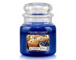 Country Candle - Blueberry Muffin -  Średni słoik (453g) 2 knoty
