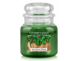 Country Candle - Balsam & Cedar - Średni słoik (453g) 2 knoty