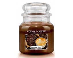 Country Candle - Coffee Shop -  Średni słoik (453g) 2 knoty