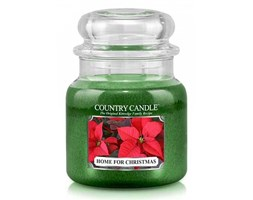 Country Candle - Home For Christmas -  Średni słoik (453g) 2 knoty
