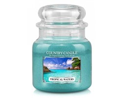 Country Candle - Tropical Waters - Średni słoik (453g) 2 knoty