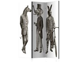 Parawan 3-częściowy - Eleganckie zoo [Room Dividers]
