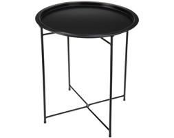 Składany stolik balkonowy, kolor czarny mat - Ø 46 cm, wys. 52 cm