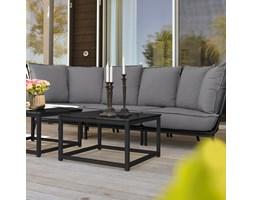 Stół zewnętrzny, 700x700 mm, marmur, czarny
