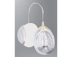 Kinkiet led 6w lampa ozcan 5373 szkło chrom łazienka salon sypialnia