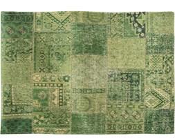 """Dywan vintage zielony """"Louis De Poortere"""" Patchwork 140x200 cm"""