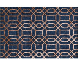 Dywan w stylu Art Déco Vegas Blue 200x300 cm