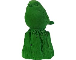 Dekoracja śpiewający wróbelek Pols Potten Sparrow Green 11x14x21 cm