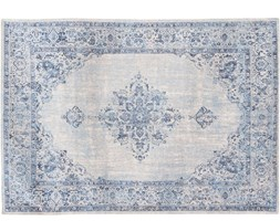 """Dywan postarzany naturalny niebiesko biały """"Louis De Poortere"""" Orient 140x200 cm"""