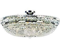 Plafon kryształowy Bordura Nickel 81x42 cm