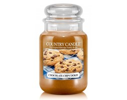 Country Candle - Chocolate Chip Cookie - Duży słoik (652g) 2 knoty