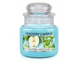 Country Candle - Cilantro, Apple & Lime -  Mały słoik (104g)