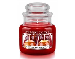 Country Candle - Salted Caramel Apples - Mały słoik (104g)