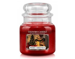 Country Candle - Merry Christmas -  Średni słoik (453g) 2 knoty