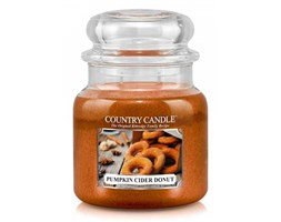 Country Candle - Pumpkin Cider Donut -  Średni słoik (453g) 2 knoty