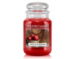Country Candle - Apple & Teakwood - Duży słoik (652g) 2 knoty