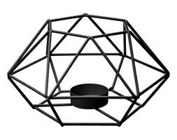 Wyjątkowy metalowy świecznik, TEALIGHT, metalowa konstrukcja, 17 x 15 x 9 cm