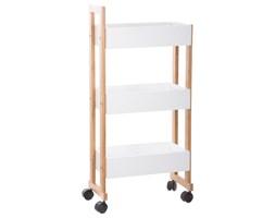 Wózek łazienkowy BAMBOO, szafka bambusowa - 3 poziomy