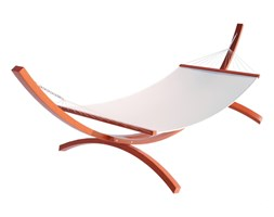 Krzesło wiszące brazylijskie niebiesko białe Sofotel Rodos