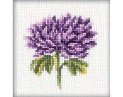 "chrysanthemums krajami TED Cross Stitch Kit-4""x4"" 14 Count"