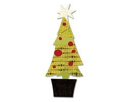 figgy na budyń LAYERED Christmas Tree Sizzix bigz bigkick by Basic G/Big Shot