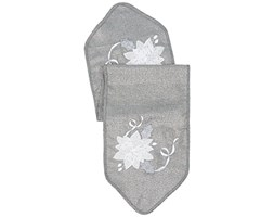 Eurofirany CHO/mindy1/św Table Runner, poliester, Grey, 33 x 140 x 6 cm