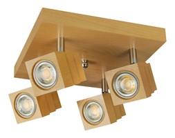 Lampa, spot sufitowy, reflektor LED LEDKO25x25-BUK czteropunktowy z litego drewna