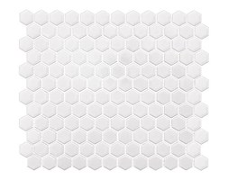 Mini Hexagon White 30x26
