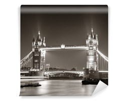 Fototapeta Tower Bridge Nocą W Bieli I Czerni