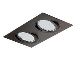 PP Design 611/2 OPRAWA HALOGENOWA LED WPUSZCZANA OCZKO REGULOWANA ALUMINIUM CZARNY ES111 QR111 AR111 GU10 G53