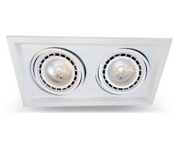 PP Design 650/2 OPRAWA HALOGENOWA LED WPUSZCZANA PODWÓJNA REGULOWANA METAL BIAŁY ES111 QR111 AR111 GU10 G53