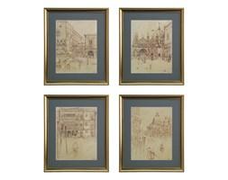 Zestaw 4 obrazów o wymiarach 41x49cm Venezia II