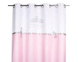 Różowa zasłona okienna dla dzieci PRINCESS z kokardą 140 x 260 cm