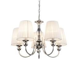 Lampa wisząca COCLE Globo styl klasyczny metal jedwab biały chrom 69034-5