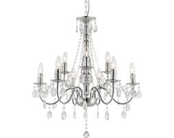 Żyrandol WILLIAM IX Globo styl glamour kryształ chrom akryl chrom srebrny 63129-9