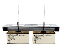 Lampa wisząca ALICANTE II Nowodvorski styl nowoczesny sklejka drewno abażur brązowy kremowy ecru beżowy 4826