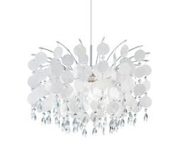 Lampa wisząca FEDRA Eglo styl glamour kryształ stal nierdzewna tworzywo sztuczne kryształ chrom perłowy przeźroczysty 92991