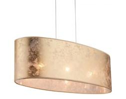 Lampa wisząca AMY Globo styl nowoczesny nikiel tkanina plastik złoty 15187H2
