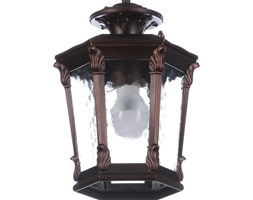 Lampa zewnętrzna sufitowa AMUR I Nowodvorski aluminium czarny 4693