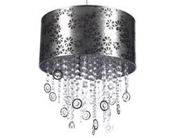 Lampa wisząca CALABRIA I Nowodvorski styl nowoczesny tkanina kryształki akrylowe metal przeźroczysty srebrny 4018
