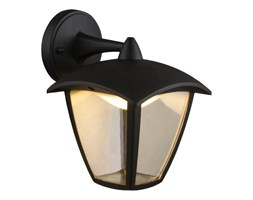 Lampa zewnętrzna ścienna LED DELIO Globo odlew aluminiowy tworzywo sztuczne czarny 31826