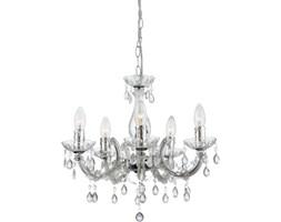 Żyrandol CUIMBRA Globo styl glamour kryształ pałacowy dworkowy chrom akryl