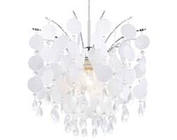Lampa wisząca FEDRA Eglo styl glamour kryształ stal nierdzewna tworzywo sztuczne kryształ chrom perłowy przeźroczysty 91046
