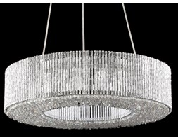 Lampa wisząca LED Claire Italux styl glamour, kryształ, stal, kryształ, chrom P0207-06L-F4QL