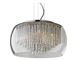 Lampa Przysufitowa Rego Aluminium Plafon Azzardo styl glamour kryształ nowoczesny metal aluminium szkło