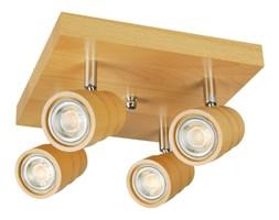 Lampa, spot sufitowy, reflektor LED LEDWA25x25-BUK czteropunktowy z litego drewna