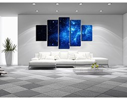 5 uchwyt Beautiful Starry Sky nowoczesna Giclee Canvas Prints Artwork Blue Stars Canvas Oil Painting Wall Art for Home and Office dekoracja wielofunkcyjne