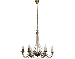 RÓŻA STARE ZŁOTO lampa wisząca 6 x 40W E14 żyrandol klasyczny świecznikowy zwis ALDEX 397K26
