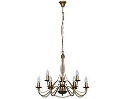 RÓŻA STARE ZŁOTO lampa wisząca 9 x 40W E14 żyrandol klasyczny świecznikowy zwis ALDEX 397N26